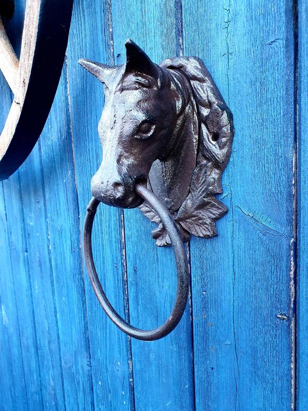 """Anbindering Wandhaken """"Pferd"""" Gusseisen Anbindehaken"""