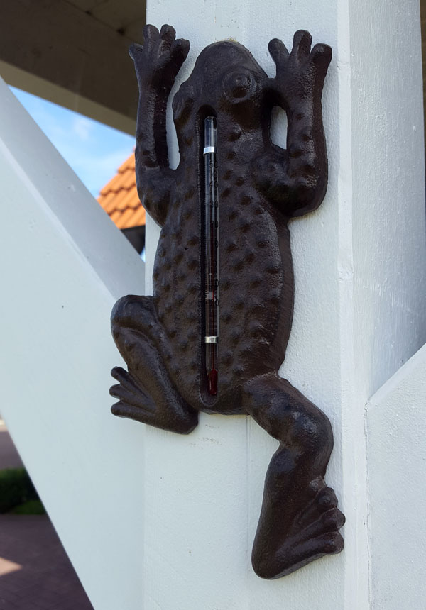 """Thermometer """"Frosch"""" Gusseisen"""