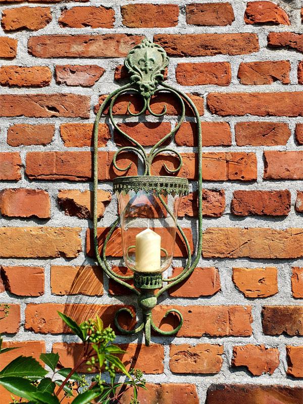 """Großes Wand-Windlicht """"gealtertes Metall"""""""