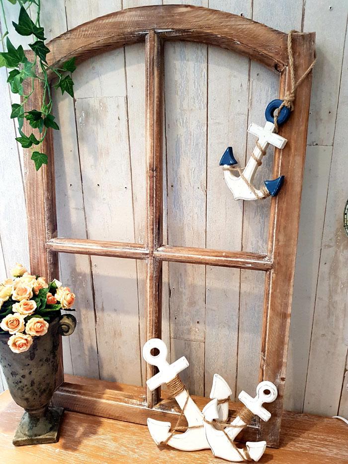 Holz Fensterrahmen braun