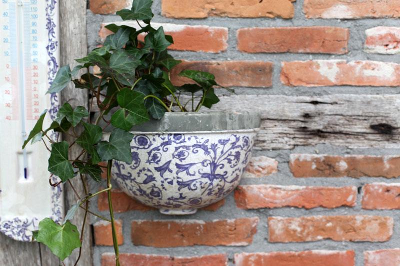 """Keramik Wandhalbschale """"Barockmuster"""""""