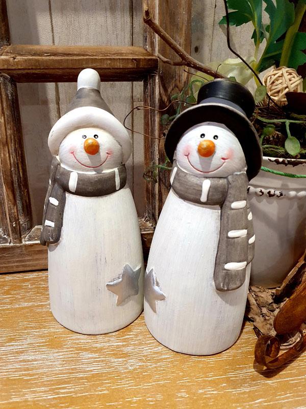 """Winterliche Keramik-Figur """"Schneemann"""""""