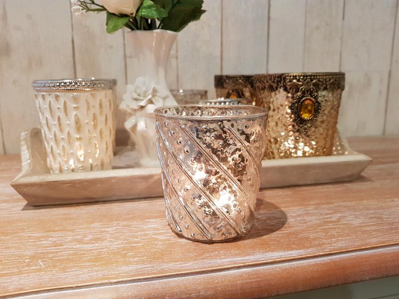 Teelichthalter Windlicht Vintage Design D