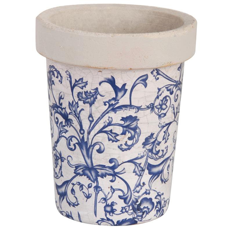 "Keramik Pflanztopf ""Barockmuster"""