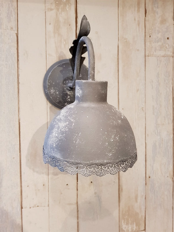 "Wandlampe ""Fabrik"" Metall E27"